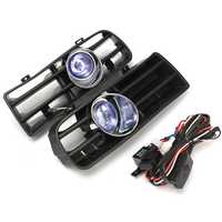 Car Front Bumper Fog Lights Lower Grill Grille Lamp with Harness for VW Golf MK4 GTI TDI 1998-2004