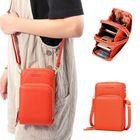 Les plus populaires Women Solid Faux leather Clutch Bag Card Bag Phone Bag