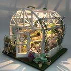 Prix de gros ZHIBO Romantic Flower House DIY Hand-Assembled Art House Doll House