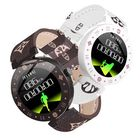 Offres Flash Bakeey R98 Scratchproof IPS Screen All-day HR Blood Pressure Waterproof Message View Leather Smart Watch