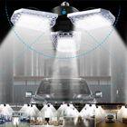 Offres Flash E26 AC100-270V 100W 12000LM Motion Sensor LED Garage Light Bulb Deformable Ceiling Lamp Basement Lighting