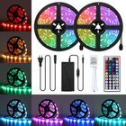 Discount pas cher 10M LED Strip Light Kit SMD5050 Waterproof RGB Flexible Lamp with 44 Key IR Remote RGB Controller + 12V 5A Power Supply