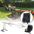 Prix de gros 4W BBQ Grill Stainless Steel Rotisserie Split Roaster Rod Charcoal Barbecue Pig Chicken Motor Kit Camping Picnic