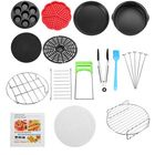 Recommandé 14Pcs Air Fryer Accessorie Set Cooking Baking Dish Pan Cooker Pizza Set Home Kitchen Cooking Tools