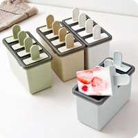 Popsicle Ice Cream Mold Homemade Simple Ice Mold 4-Grid Ice Tray