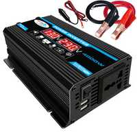 4000W Peak Car Power Inverter 12V-220V/110V Modified Sine Wave Converter with LCD Screen Dual USB 8 Safety Protection Balck