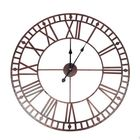 Bon prix 80CM Decorative Premium VintageStyle Wall Metal Clock Large Roman Number Open Face Indoor&Outdoor Clock