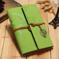 Creative Notebook Custom Travel Diary Loose Leaf Vintage Leaf Notepad Leather Notebook Note Book for Business Gift Memo Pad