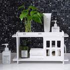 Offres Flash Bathroom Kitchen Storage Rack Wall Punch-free Toilet Washbasin Storage Cabinet