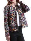 Bon prix Ethnic Floral Print Long Sleeve Coats