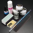 Bon prix Acrylic Powder Primer Brush Pen Dish Forms Buffer File Nail Art Set