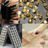 3D Glitter Metallic Cone Studs Rivets Nail Art Stickers