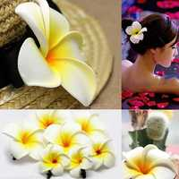 Frangipani Hairpin Side Hair Clip Beach Wedding Flower Hair Accessory