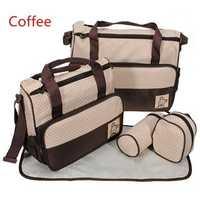 5 Pcs Baby Diaper Nappy Bag Mommy Bottle Holder Shoulder Handbag