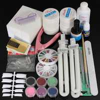 36W UV Gel Lamp Nail Art Manicure Tips Curing Set Kit