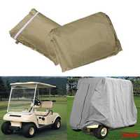 2 Passenger Cover Taupe Protect Against Rain Sun for Golf Cart Yamaha