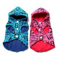 Pet Dog Clothes Coat Hoodie Cat Puppy Jacket Shirts Fleece Print