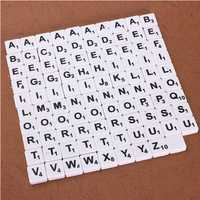 100pcs Scrabble Tiles English Letters Black / White Font For Kids