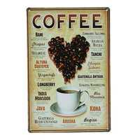 Heart Coffee Tin Sign Vintage Metal Plaque Poster Bar Pub Wall Decor