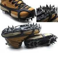 18 Teeth Anti Slip Ice Snow Shoe Spikes Mountaineering Hiking Crampons