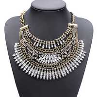 Crystal Rhinestone Statement Choker Necklace Women Jewelry
