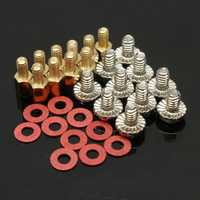 10x 6.5mm M3 Brass Standoff PC Case Motherboard Riser Screws Washers