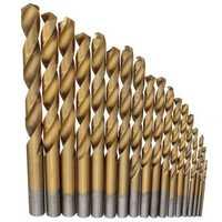 18pcs 1.5mm-10mm Titanium Coated Twist Drill Bits High Speed Steel Drill Bit Set