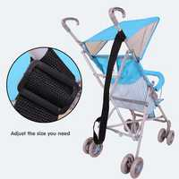 Infant Baby Folding Stroller Pram Carrying Strap Adjustable Safety Security Belt