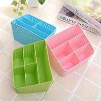 Imitation Rattan Colorful Multifunctional Cosmetics Remote Control Desktop Storage Basket