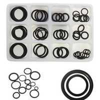 50pcs Rubber O Ring Seal Plumbing Garage Assorted Set Hydraulic Plumbing Gasket Seals