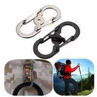 Safety Buckle Stainless Steel Carabiner Climbing Hiking Sports Keychain Outdoor Equipment