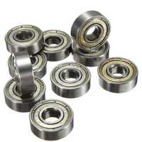 10Pcs Skateboard Groove Roller Blade Ball Bearings Wheels Silver