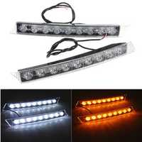 9LED Daytime Running Driving White DRL Turn Signal LED Lights