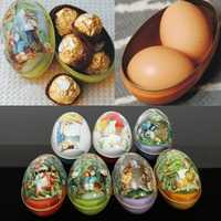 Small Metal Tin Container Easter Eggs Gift Candy Jewelry Storage Box Case