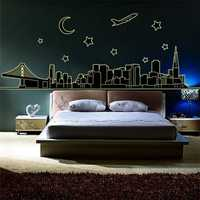 Night View Wall Stickers Art Fluorescence Night Glow Mural Decal Wall Decor