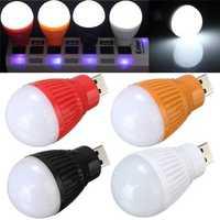Portable 5W USB LED Ball Desk Reading Light Camp Lamp Bulb For PC Laptop 5V