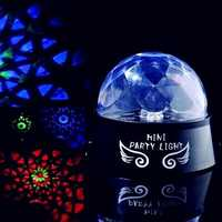Party LED Light Colorful Rotating Mini Portable DJ Disco Stage Lighting