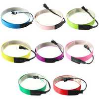 Colorful Electroluminescent Tape EL Wire 8 Colors Inverter 3V 60cm*14mm