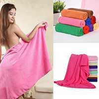 70 x 140cm Absorbent Microfiber Bath Towel Beach Quick Dry Washcloth Shower Towel Soft Home Textile Wide Thick Towel
