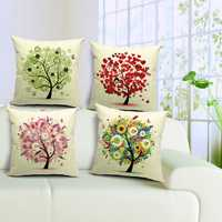 Fresh Life Tree Pillow Case Home Office Car Pillowcase