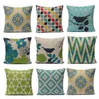 Fresh Style Pillow Cushion Linen Cotton Cushion Cover