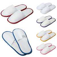1 Pair Hotel Travel Disposable Slippers Home Guest Slippers