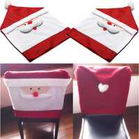 Christmas Santa Claus Chair Cover Christmas Dinner Table Party Decor