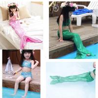 Girl Little Mermaid Tail Bikini Set Swimmable Swimming Princess Costume Swimsuit