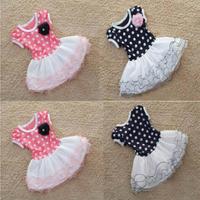 Baby Girls Dot Princess Short Sleeve Stitching Styles Dress