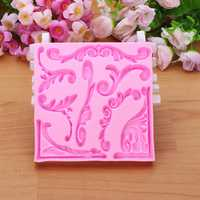 3D Leaf Silicone Fondant Lace Mold Cake Decoarting Mould