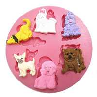 Puppy Dog Silicone Fondant Mold Chocolate Polymer Clay Mould