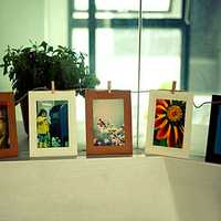 10Pcs 6 Inch Hanging Album Clip Kraft Paper Photo Frame DIY Art Decor