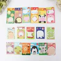 18 Animal Pattern Sticky Note Memo Pad Message Sticker