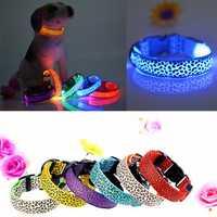 L Pet Cat Dog Nylon LED Flashing Safety Neck Collar
